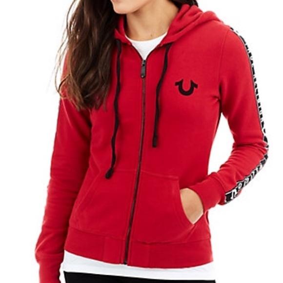 Red Horseshoe Women s True Religion Zip Up Hoodie.  M 5bbfa97b04e33dd6cb56cf13 c978b99941